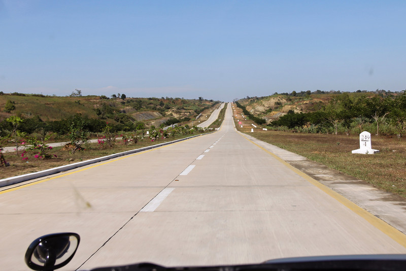 there are some excellent roads in burma, which apparently nobody can use.. ? and no towns or shops on the side. just 7th of a kilometer markers the whole way. 6 hours of road like this