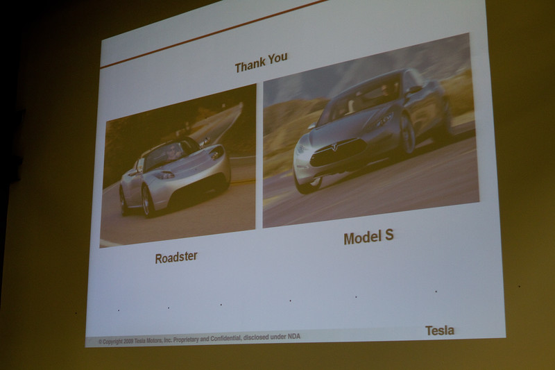 The Roadster and the new Model S (sedan)