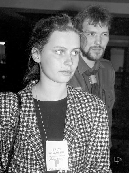 Rūta Grinevičiūtė-Janutienė ir Rimantas Ulevičius 1989m Taline,pirmojoje Baltijos Asamblėjoje...