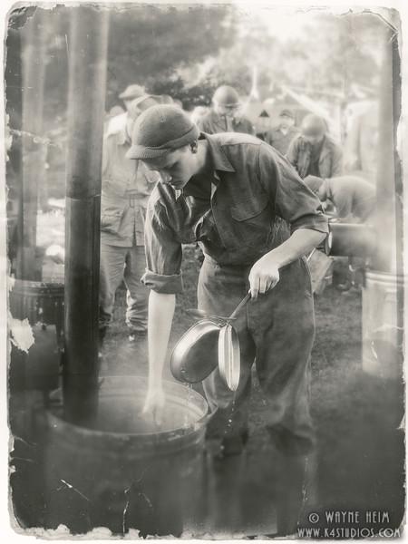 Washing Dishes   Black & White photography by Wayne