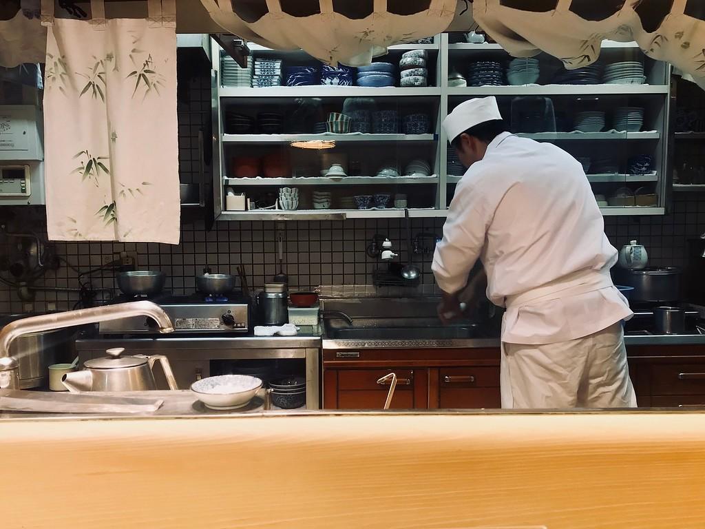 Chef Nishizawa at work.