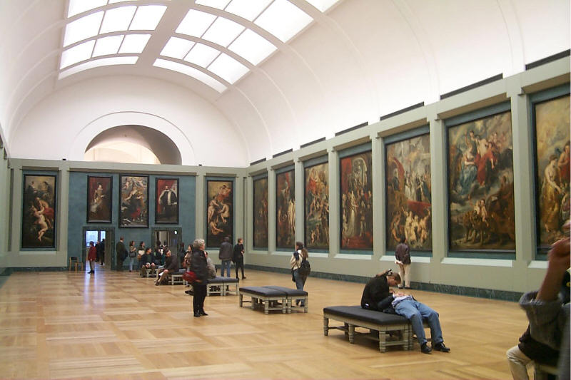 Rubens Room at the Louvre Museum in Paris, France