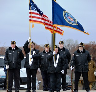Wyandotte Veterans Honor Guard pay respect at Great Lakes National Cemetery in Holly 2018