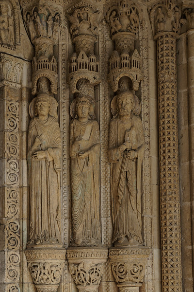 Bourges Cathedral South Porch Jamb Figures
