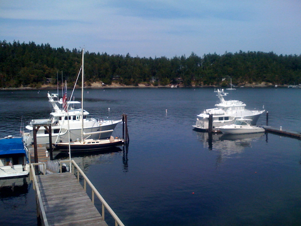 Nordavn 55's Enterprise (l) and Gray Perl (r) in Friday Harbor, WA