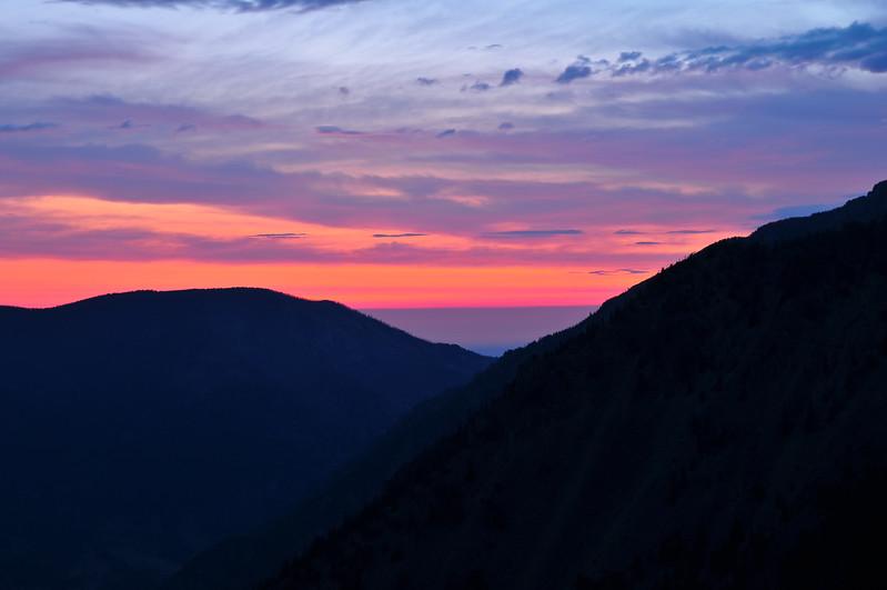 Sunrise, Bear Tooth Mountains