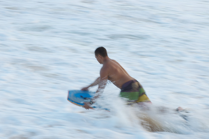 Paddling Out to Surf