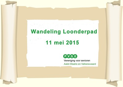 2015-0511 PVGE wandeling Loondermolenpad