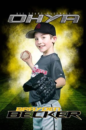 9U - North OHYA Baseball Sample Individual & Team Shot