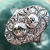 1.75ctw Edwardian Toi et Moi Old European Cut Diamond Ring  31