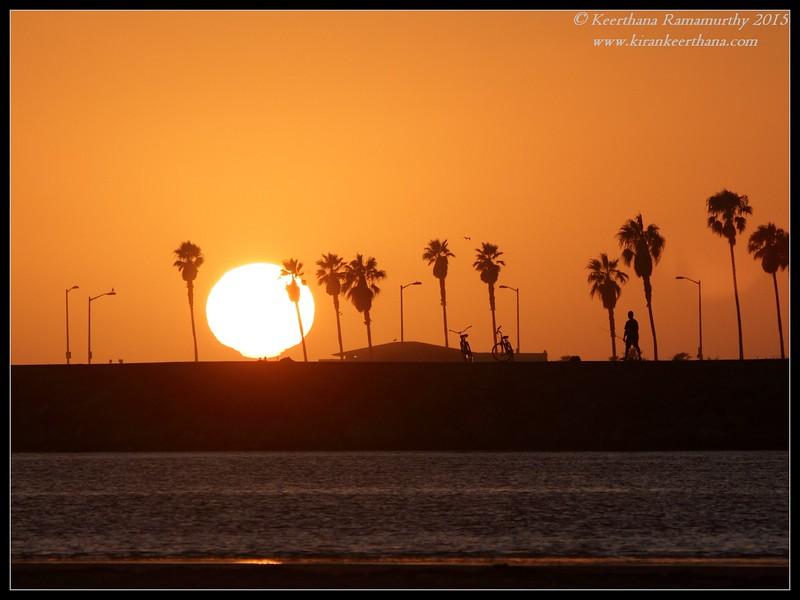 Sunset at Dog Beach, Robb Field, San Diego River, San Diego County, California, July 2015