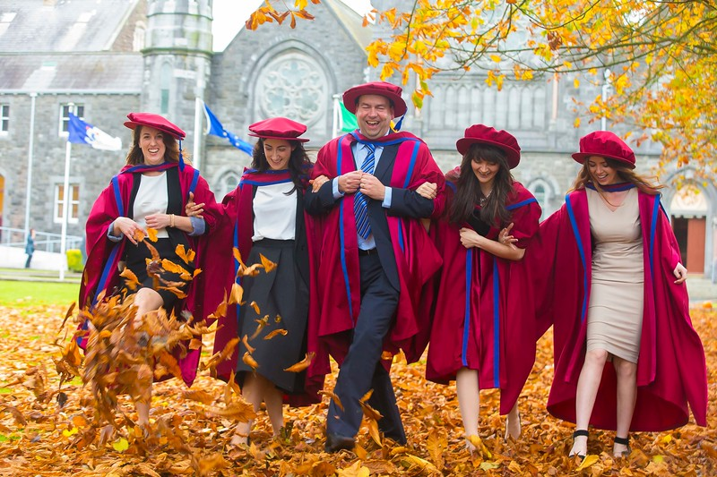 30/10/2015. Waterford Institute of Technology Conferring. Pictured are newly Conferred PHD's. pictured from left, Sarah Duggan, Waterford, Katherine Meagher, Waterford, David Phelan, Waterford, Anne Marie Burns, Cavan, Tracey Coady, Waterford.  Picture: Patrick Browne