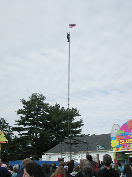 Topsfield Fair, Sunday, October 11, 2009. There was a high dive show.