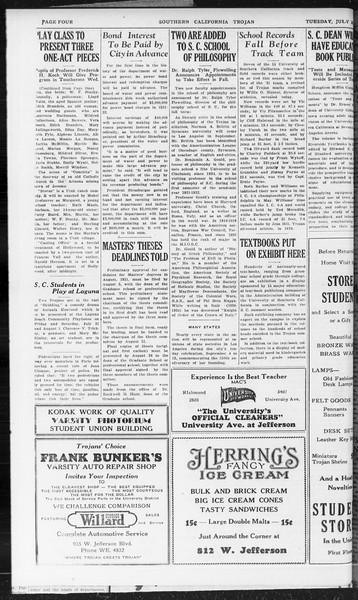 Southern California Trojan, Vol. 10, No. 9, July 21, 1931