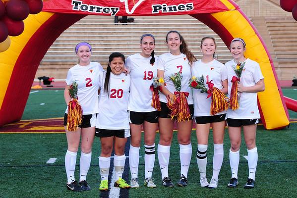 TP Girls Soccer Senior Night 2-20-14