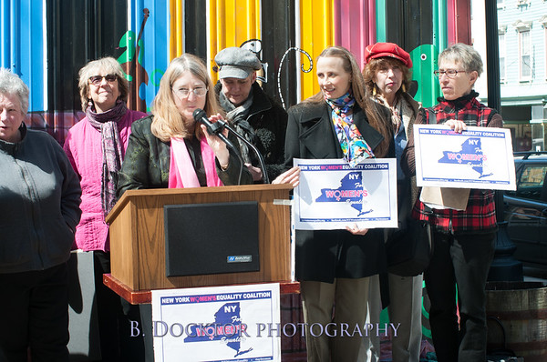 Women's Equality press conference in Hudson, NY