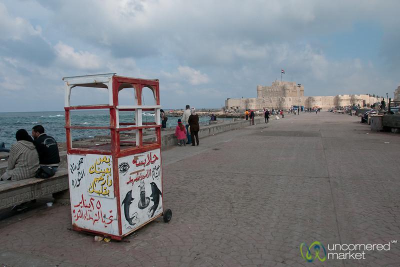 Walkway at Citadel of Qaitbay - Alexandria, Egypt