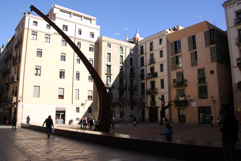 Outdoor sculpture in El Born