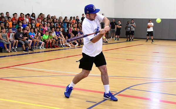 7/27/2018 Mike Orazzi   Staff Bristol Blues's Mike DeLease while at the Bristol Boys & Girls Club on West Street Friday morning.