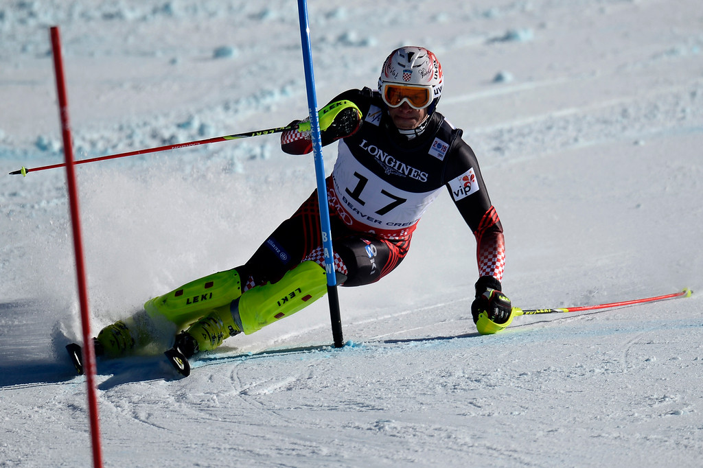 . BEAVER CREEK, CO - FEBRUARY 08: Ivica Kostelic of Croatia competes during the men\'s alpine combined final. FIS Alpine World Ski Championships 2015 on Sunday, February 8, 2015. (Photo by AAron Ontiveroz/The Denver Post)