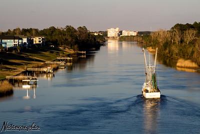 Waterway Sunset