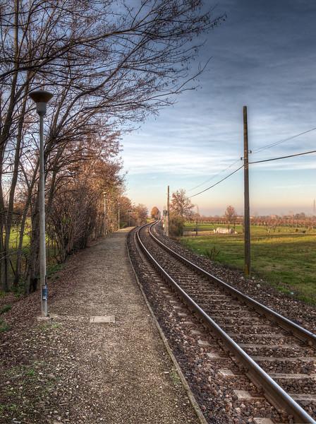 Railway Tracks - Pratissolo, Scandiano, Reggio Emilia, Italy - December 8, 2011