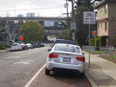 Harrison Street Bike Signs