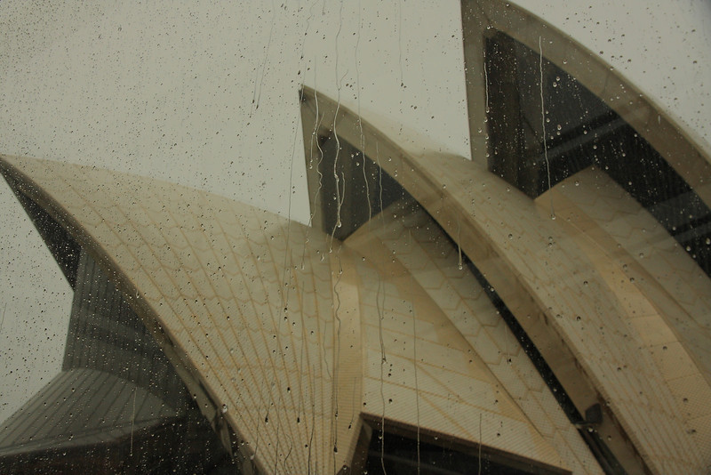 Sydney opera by rainy