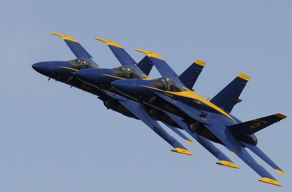 Blue Angles at NASA Air Show 2008
