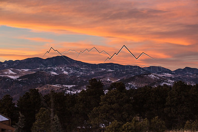 Front Range, CO at Sunset