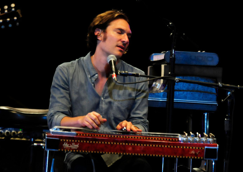 . Joshua Grange on the pedal steel, as Sheryl Crow and her band  played at the Minnesota State Fair Grandstand Sunday night. (Pioneer Press: Scott Takushi)