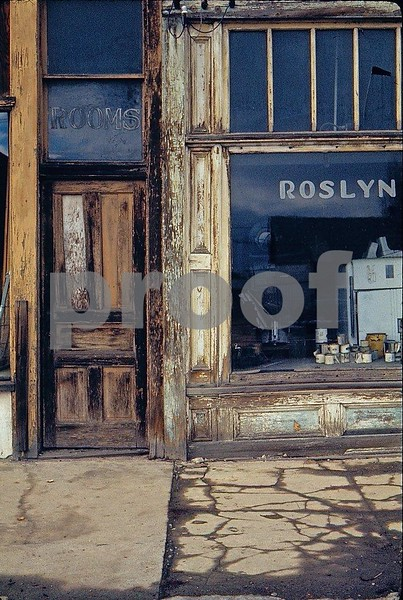 The door to the Roslyn Hotel on Febuary 13, 1973.