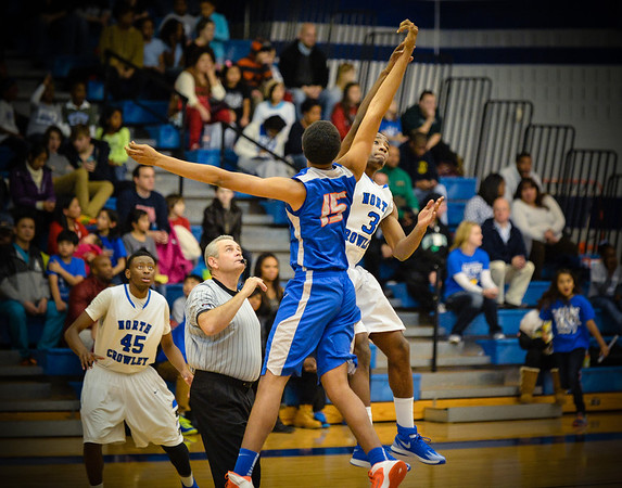 Basketball Varsity Boys vs  Bowie 01-28-14-8
