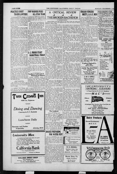 Daily Trojan, Vol. 17, No. 56, December 07, 1925
