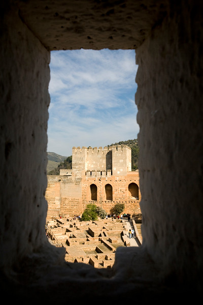 Loophole of the Alcazaba, Alhambra, Granada, Spain
