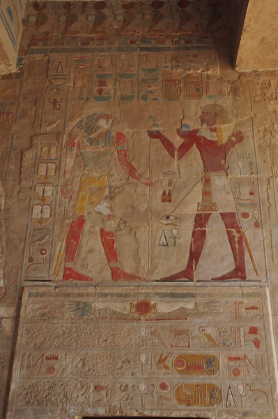 2010-11-12  122  Temple of Hatshepsut - Wall Relief Carving