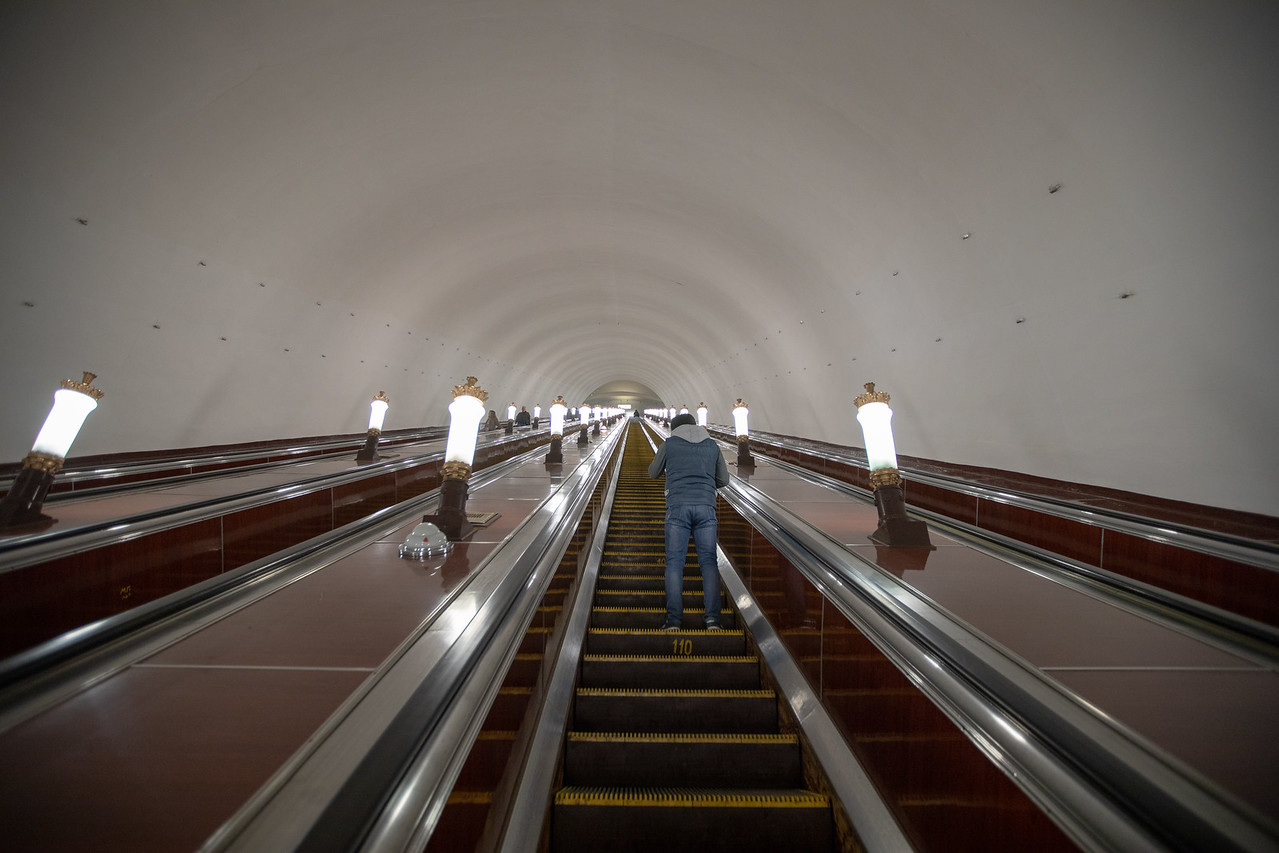 Long, Really, Really Long, Escalators in the Moscow Metro