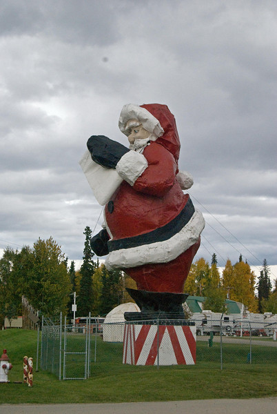 This giant Santa was one of the LEAST tacky things we saw there