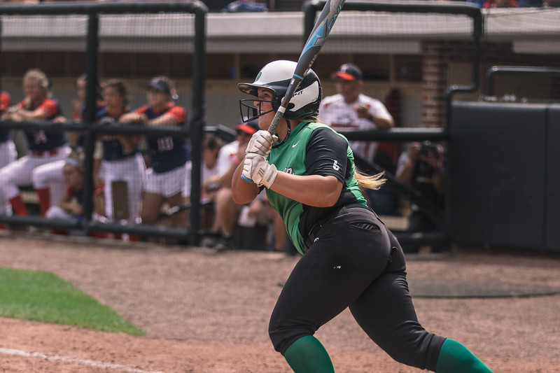 Rylee Hershberger drives in two runs during the Bremen vs. Tecumseh state championship game on Saturday, June 8, 2019 at Bittinger Stadium.