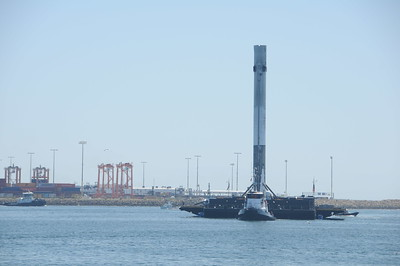 Spacex Barge recovery  San Pedro June 28th 2017