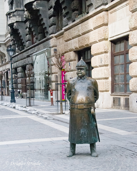 Budapest Policeman Statue