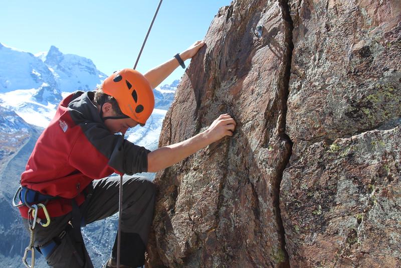 Matt climbing of Riffelhorn