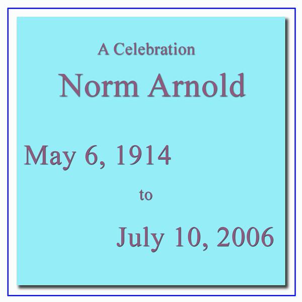 Norm Arnold Sr. - Memorial