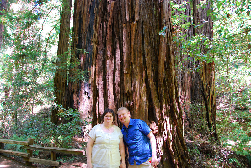 Margo and Chance at Muir Woods.
