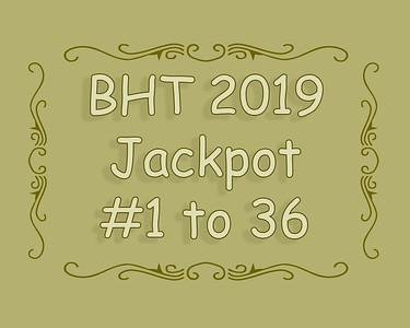 BHT Barrel Racing Jackpot #'s 1 to 36