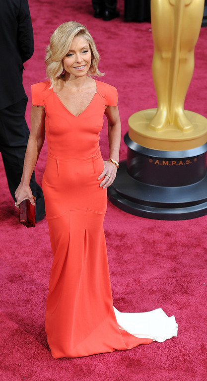 . Kelly Ripa attends the 86th Academy Awards at the Dolby Theatre in Hollywood, California on Sunday March 2, 2014 (Photo by John McCoy / Los Angeles Daily News)