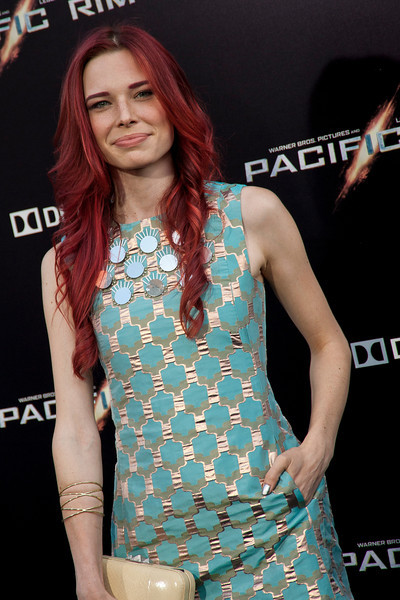 HOLLYWOOD, CA - JULY 09: Actress Chloe Dykstra arrives at the premiere of Warner Bros. Pictures' and Legendary Pictures' 'Pacific Rim' at Dolby Theatre on Tuesday, July 9, 2013 in Hollywood, California. (Photo by Tom Sorensen/Moovieboy Pictures)