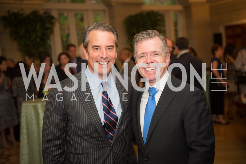 Ambassador Stuart Holliday, Ambassador Sean Lawler, 50th Annual Meridian Ball Leadership Committee Reception at the Blair House, co-hosted with Ambassador Sean P. Lawler.  September 13, 2018, Photo by Ben Droz.