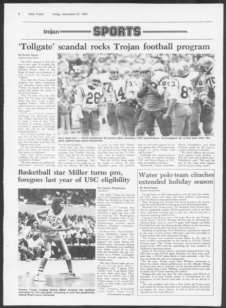 Daily Trojan, Vol. 100, No. 56, November 22, 1985