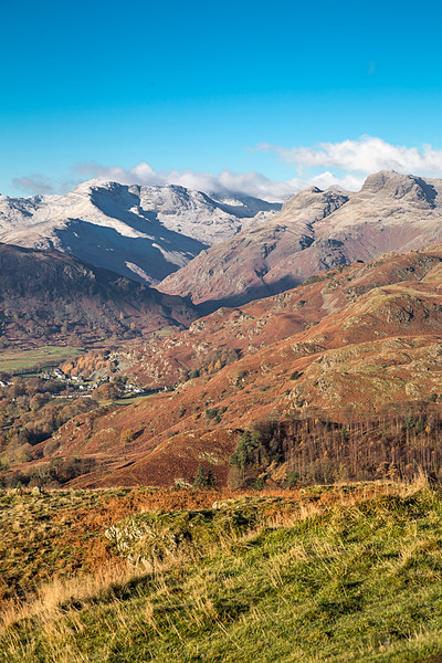 Looking Down On The Langdale Valley In The English Lake District